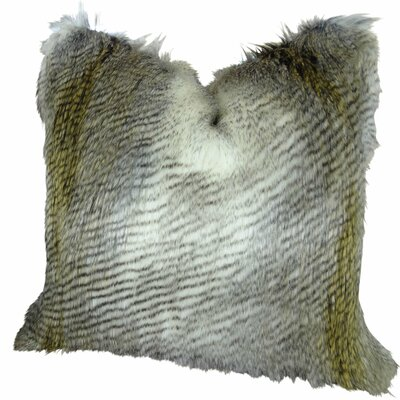 Montero Alaskan Hawk Faux Fur Throw Pillow
