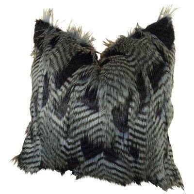 Montez Feather Faux Fur Throw Pillow
