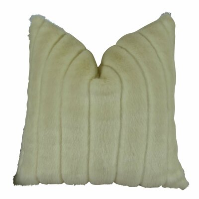 Montford Grooved Mink Faux Fur Throw Pillow