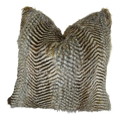 Montiel Faux Fur Throw Pillow