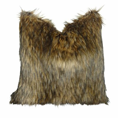 Wafford Wolf Luxury Faux Fur Throw Pillow