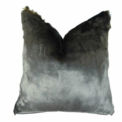 Juarez Luxury Tissavel Amber Faux Fur Throw Pillow