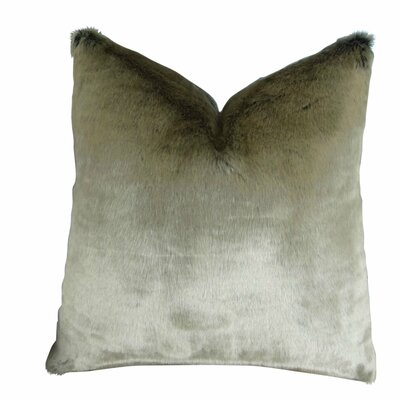 Juarez Luxury Tissavel 2 Tone Faux Fur Throw Pillow
