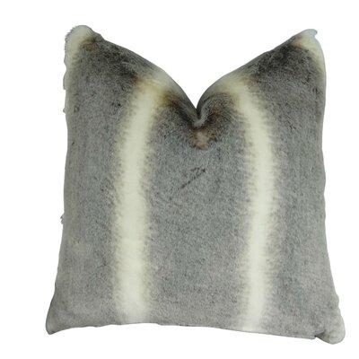 Wagnon Luxury Tissavel Chinchilla Faux Fur Throw Pillow