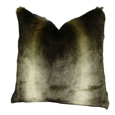 Wagstaff Luxury Tissavel Bronze Rabbit Faux Fur Throw Pillow