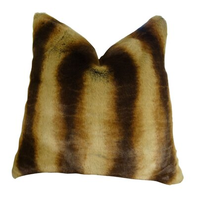 Wahl Cognac Tissavel Chinchilla Faux Fur Throw Pillow