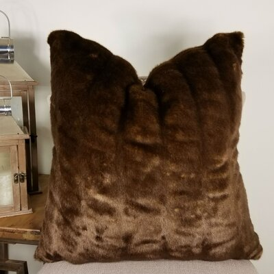 Waites Tissavel Char-pie Chinchilla Faux Fur Throw Pillow