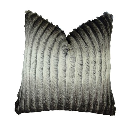 Fredericks Tissavel Ombre Faux Fur Throw Pillow Size: Double Sided 20 x 20, Fill Material: Insert Option: H-allrgnc Polyfill