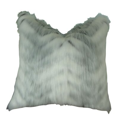 Jung Soft Fox Faux Fur Throw Pillow