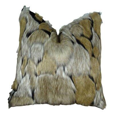 Piccolo Fox Faux Fur Throw Pillow