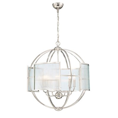 Launceston Orb 8-Light Geometric Pendant Finish: Polished Nickel