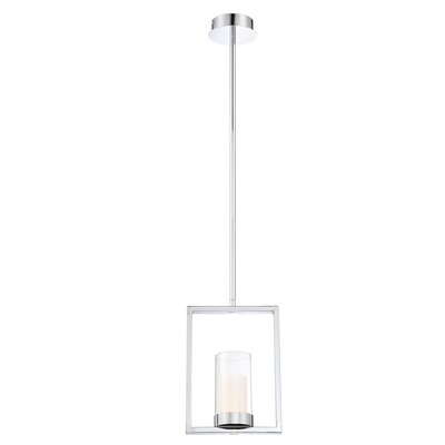 Hoerner 1-Light LED Mini Pendant Shade Color: Chrome