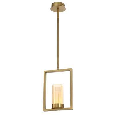 Hoerner 1-Light LED Mini Pendant Shade Color: Brass