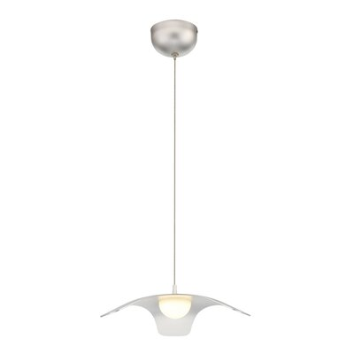 Cowles 1-Light LED Mini Pendant Shade Color: Silver