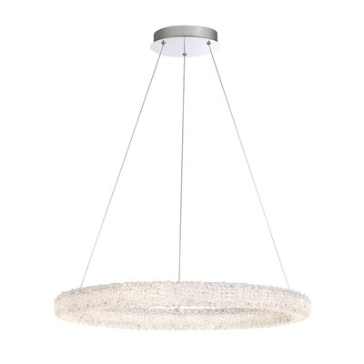 Sturgill 1-Light LED Crystal Pendant