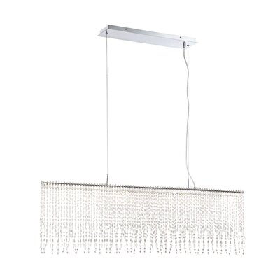 Spencerian Hand-Beaded 1-Light LED Kitchen Island Pendant