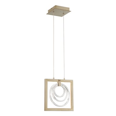 Luman Glass Rings 1-Light LED Geometric Pendant