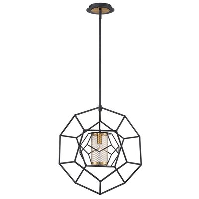 Luker Caged 1-Light Geometric Pendant