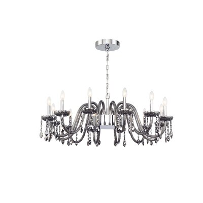 Spenser 16-Light Candle-Style Chandelier Color: Smoke