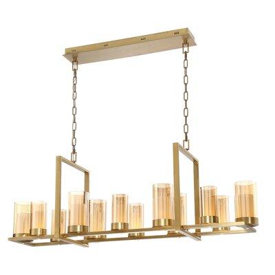 Hoerner 12-Light LED Kitchen Island Pendant Finish: Brass