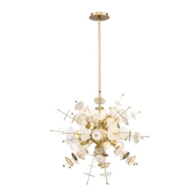 Suai Retro 6-Light Sputnik Chandelier Color: Brass