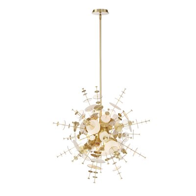 Suai Retro 9-Light Sputnik Chandelier Color: Brass