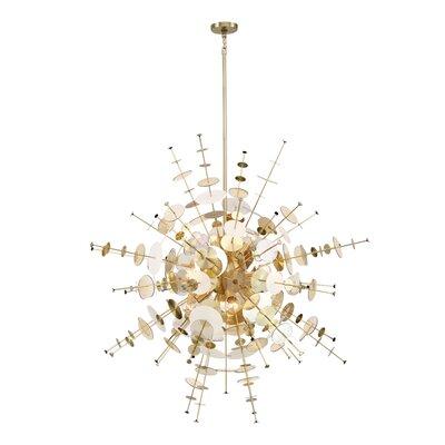 Suai Retro 12-Light Sputnik Chandelier Finish: Brass