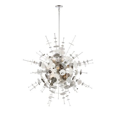 Suai Retro 12-Light Sputnik Chandelier Finish: Chrome