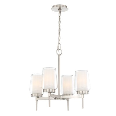 Jaeden Customizable 4-Light Candle-Style Chandelier Color: Nickel