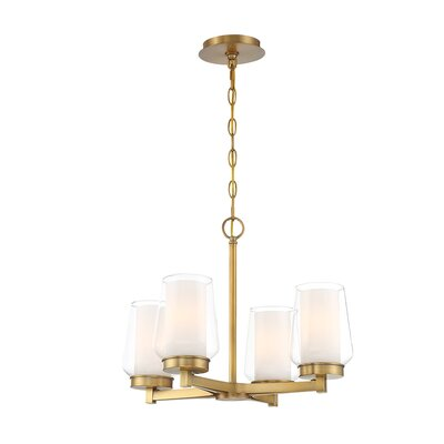 Jaeden Customizable 4-Light Candle-Style Chandelier Color: Brass