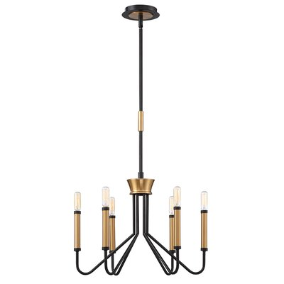 Hofer Duo-Tone 6-Light Candle Style Chandelier