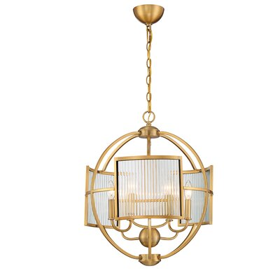 Launceston Orb 6-Light Geometric Pendant Finish: Brass