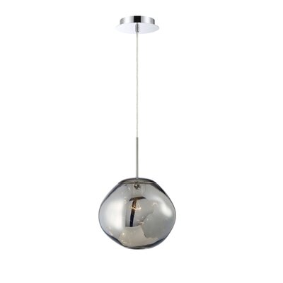 Mederos Pearlized Orb 1-Light Geometric Pendant Shade Color: Chrome