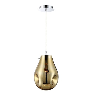 Medlin Pearlized 1-Light Geometric Pendant Shade Color: Gold