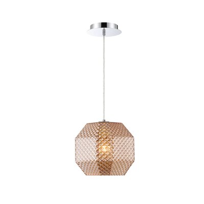 Medlock 1-Light Geometric Pendant Shade Color: Amber