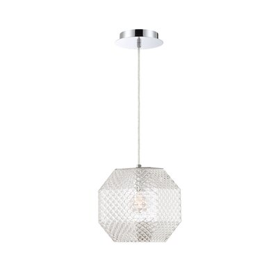 Medlock 1-Light Geometric Pendant Shade Color: Clear