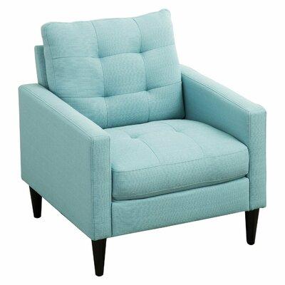 Mcneel Tufted Armchair Upholstery: Blue