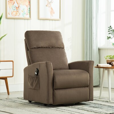 Haller Lift Chair Power Recliner Upholstery: Chocolate