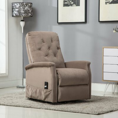 Fort Hamilton Tufted Power Lift Recliner Upholstery: Mocha