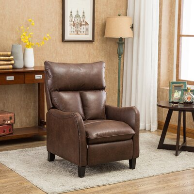 Hallock Manual Recliner Upholstery: Brown
