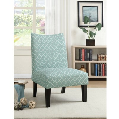 Finlay Patterned Fabric Slipper Chair Upholstery: Blue