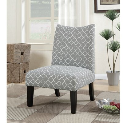 Finlay Patterned Fabric Slipper Chair Upholstery: Gray