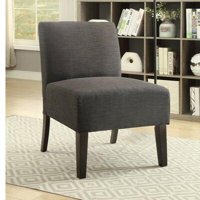 Finnerty Wooden Armless Slipper Chair Upholstery: Gray