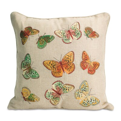 Heasley Butterfly Polyester Throw Pillow