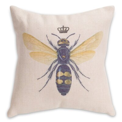 Tufts Bee Polyester Throw Pillow