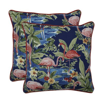 Kershaw Flamingoing Lagoon Indoor/Outdoor Throw Pillow