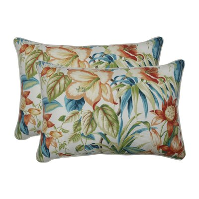 Clewiston Botanical Glow Tiger Lily Indoor/Outdoor Lumbar Pillow