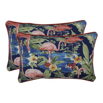 Orinda Flamingoing Lagoon Indoor/Outdoor Lumbar Pillow