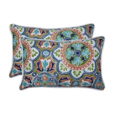 Huffaker Tile Flamingo Indoor/Outdoor Lumbar Pillow
