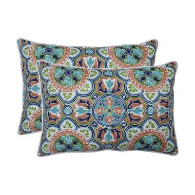 Huffine Tile Flamingo Indoor/Outdoor Lumbar Pillow